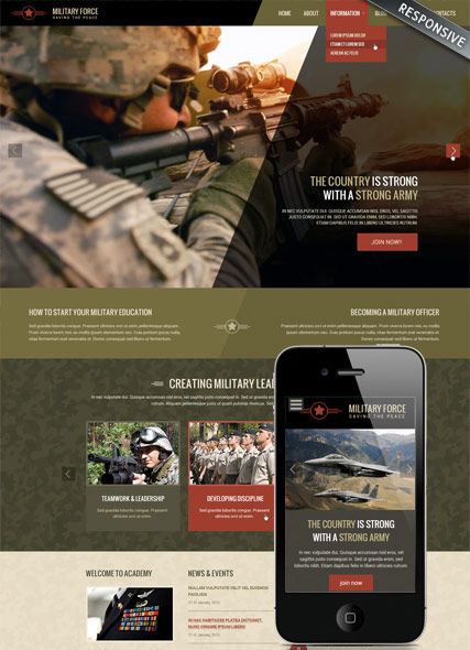 Military Website Design