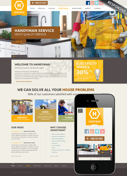 Handyman service Website Design