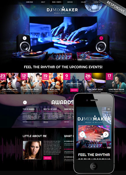 DJ Music Website Design