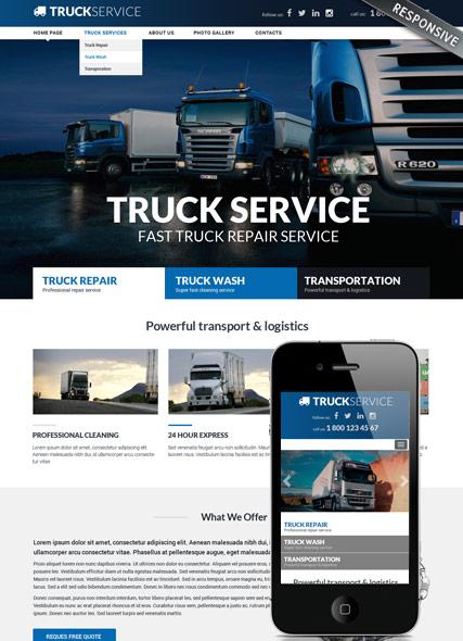 Truck service Website Design