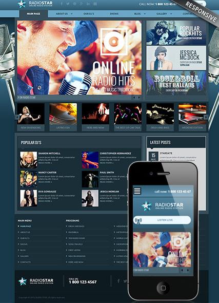 Radio Star Website Design