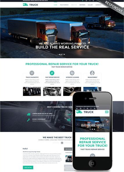 Truck Website Design