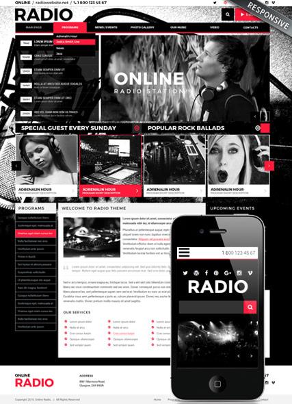 BW Radio Website Design