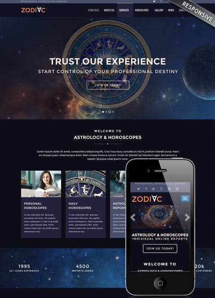Zodiac Astrology v3.4 Website Design
