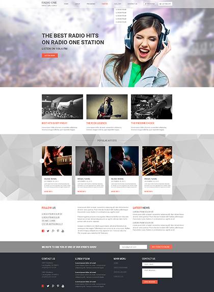 Radio One Website Design