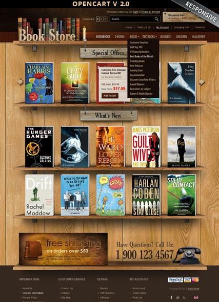 Book Store 2.0 Website Design