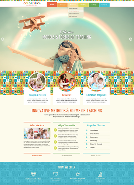 Kindergarten Studio Website Design