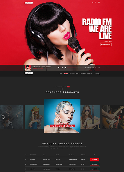Radio FM Website Design