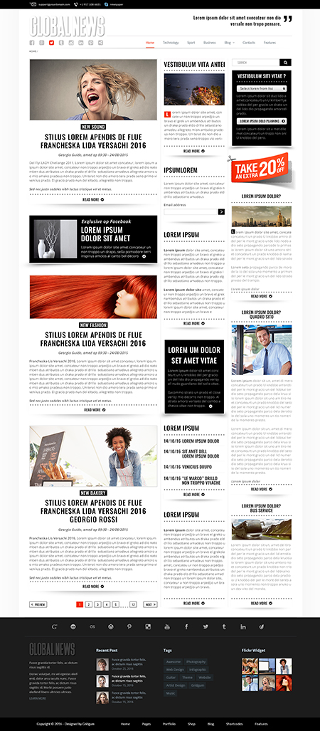GlobalNews Website Design