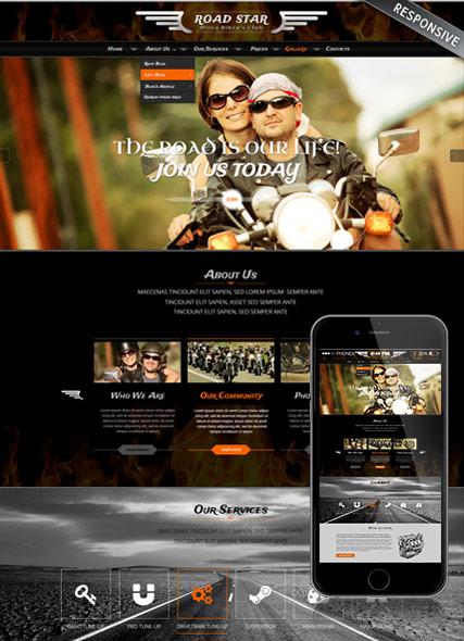 Bikers club Website Design