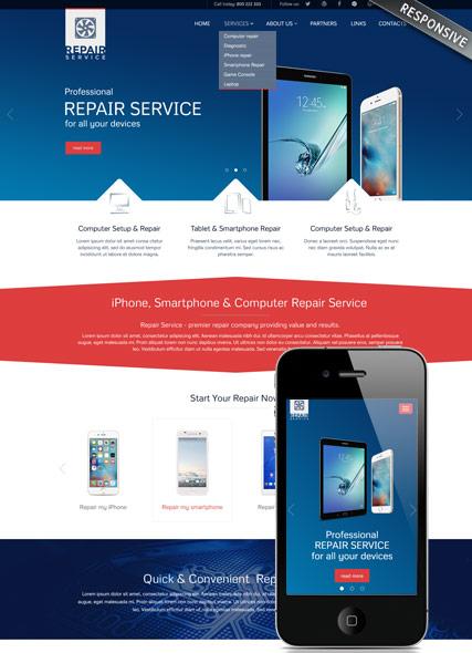 Repair service v3.5 Website Design