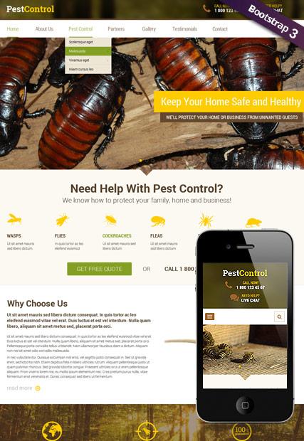 Pest Control v3.5 Website Design