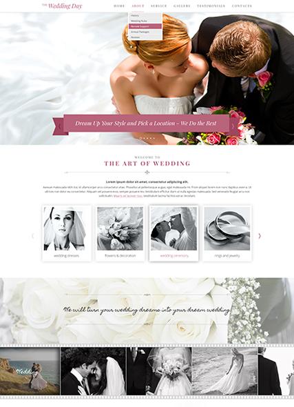 Wedding day Website Design