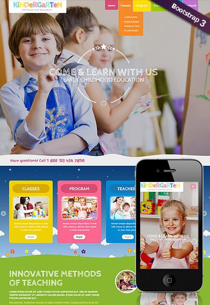 Preschool Theme Website Design