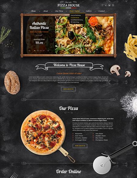 Pizza House Website Design
