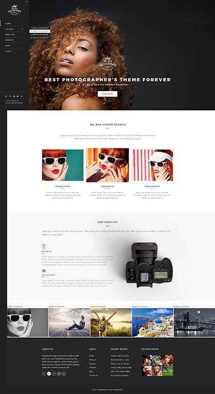Photographer WP Website Design