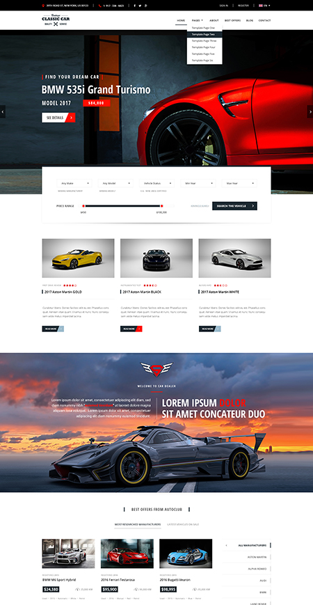 Car Marketplace Website Design