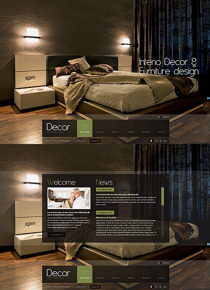 home decor website templates decor studio html5 template demo preview 11266